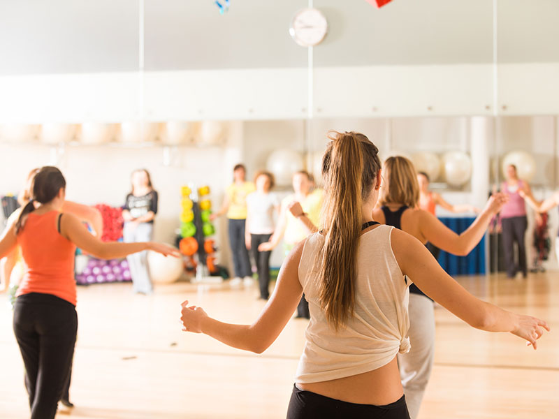 dance fitness course with a certified instructor